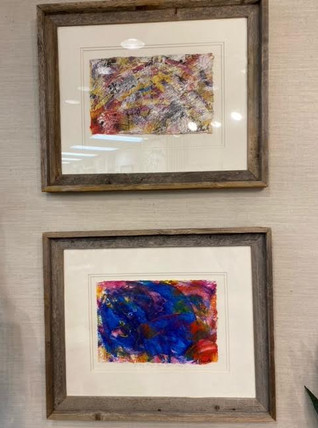 Chandler Abstract Art in Wood Frame