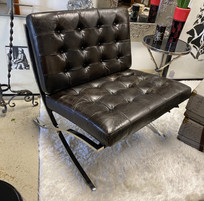 Barcelona Style Chair in Espresso Color Leather