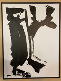 Black & White Abstract Painting 38 x 49