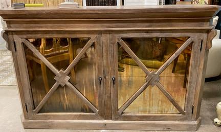 2 Door Mirrored Wood Sideboard