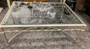 Silver & Glass Cocktail Table