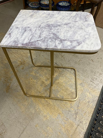 Marble Top Table w/ Gold Base