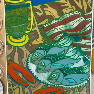 """""""Three Fishes"""" Original Arycylic on Cavas"""