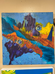 Abstract Painting on Board
