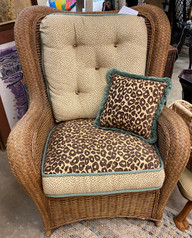 Henry Link Chair w/ Custom Upholstered Fabric