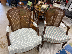 Vintage Caneback Arm Chairs