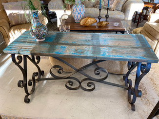 Iron & Wood Console Table