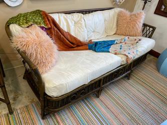 Vintage Rattan Lewittes Furniture Sofa