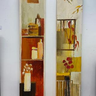 10 x 47 Signed art on Wood Panel