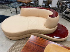 Rodus Contemporary Leather Chaise
