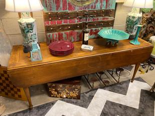 Antique Drop Leaf Farm Style Table