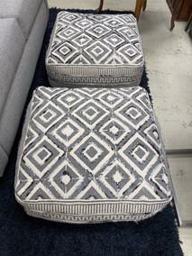 Black, Gray & Offwhite Floor Pillows