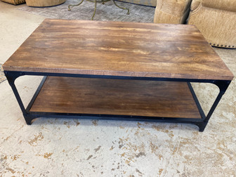 Wood & Iron Cocktail Table