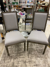 Maxwell Side Chairs w/ Grey Linen Fabric set of 4