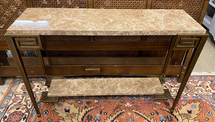 Theodore Alexander Marble Top Console. 49 1/2 W x 15 1/2 D x 35 H