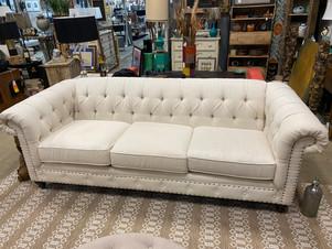 Bernhardt Chesterfield Tufted Sofa w/ Nailheads