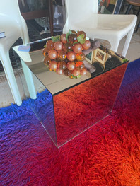 "16 1/2"" Mirrored Cube"