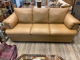 """80"""" Camel Color Italian Leather Sofa"""