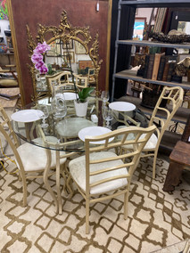 Glasstop Dining Room Table w/ Chairs