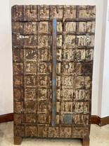 2 Door 3 Shelf Wood & Metal Cabinet