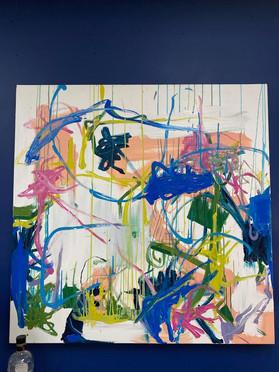 48 x 48 Abstract Art by Local Artist Bernard