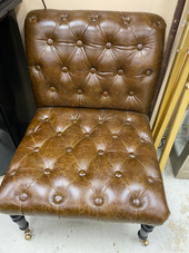 Leather Tufted Chair