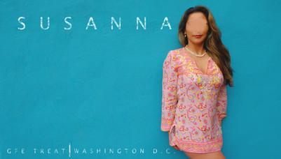 Susanna. Washington DC GFE Treat. Pink Shirt no panties. Turqoise Wall.jpg