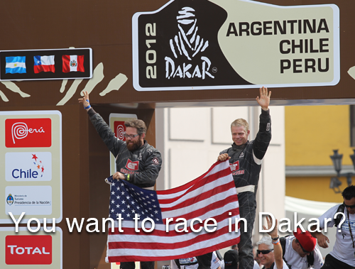 You Want to Race in Dakar?