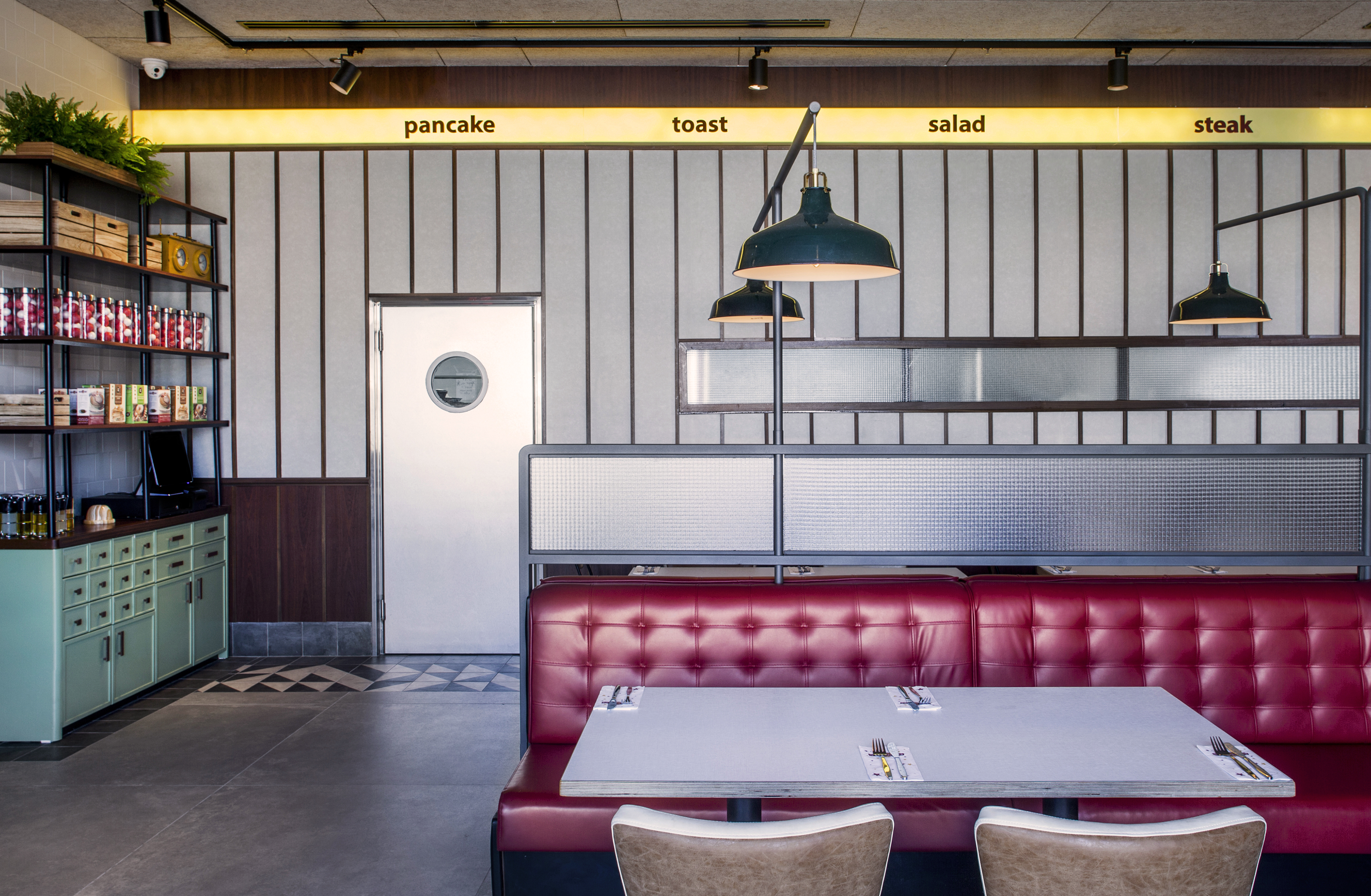 diner wall