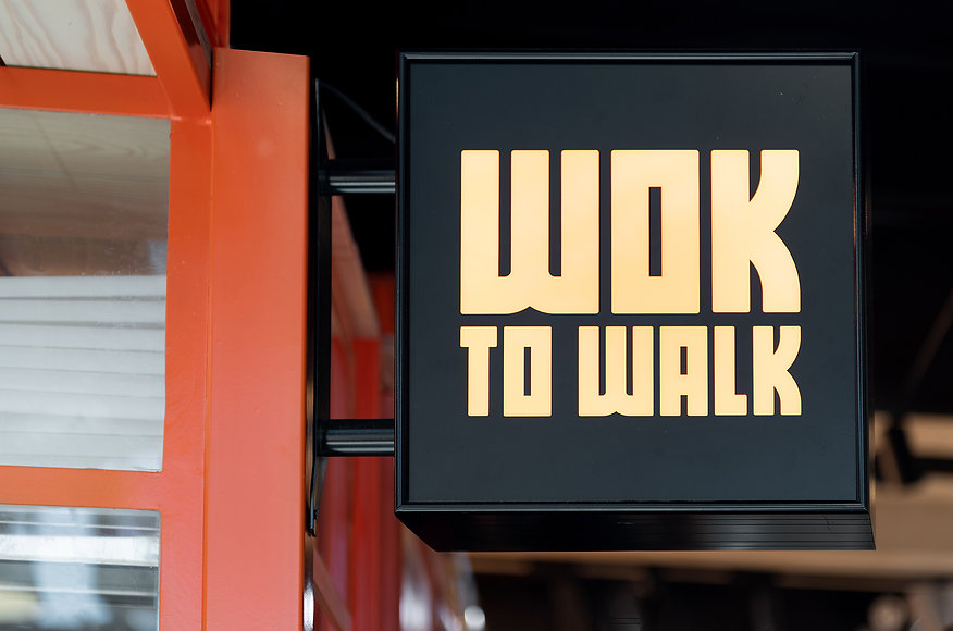 WOK to WALK sign