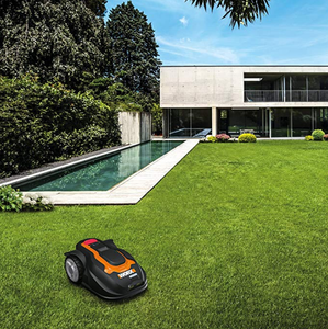 Smart Robotic Law Mower Mowing the Lawn
