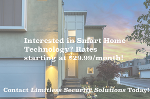 A home with text over allowing a customer to click to get smart home technology installed today. For as low as $29.99/ month smart home technology can be installed.