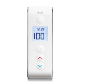 A Smart Digital Shower interface has easy to use buttons that can help you control water pressure and temperature of your showers.