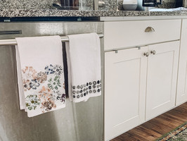 Hand-Stamped Hand Towels
