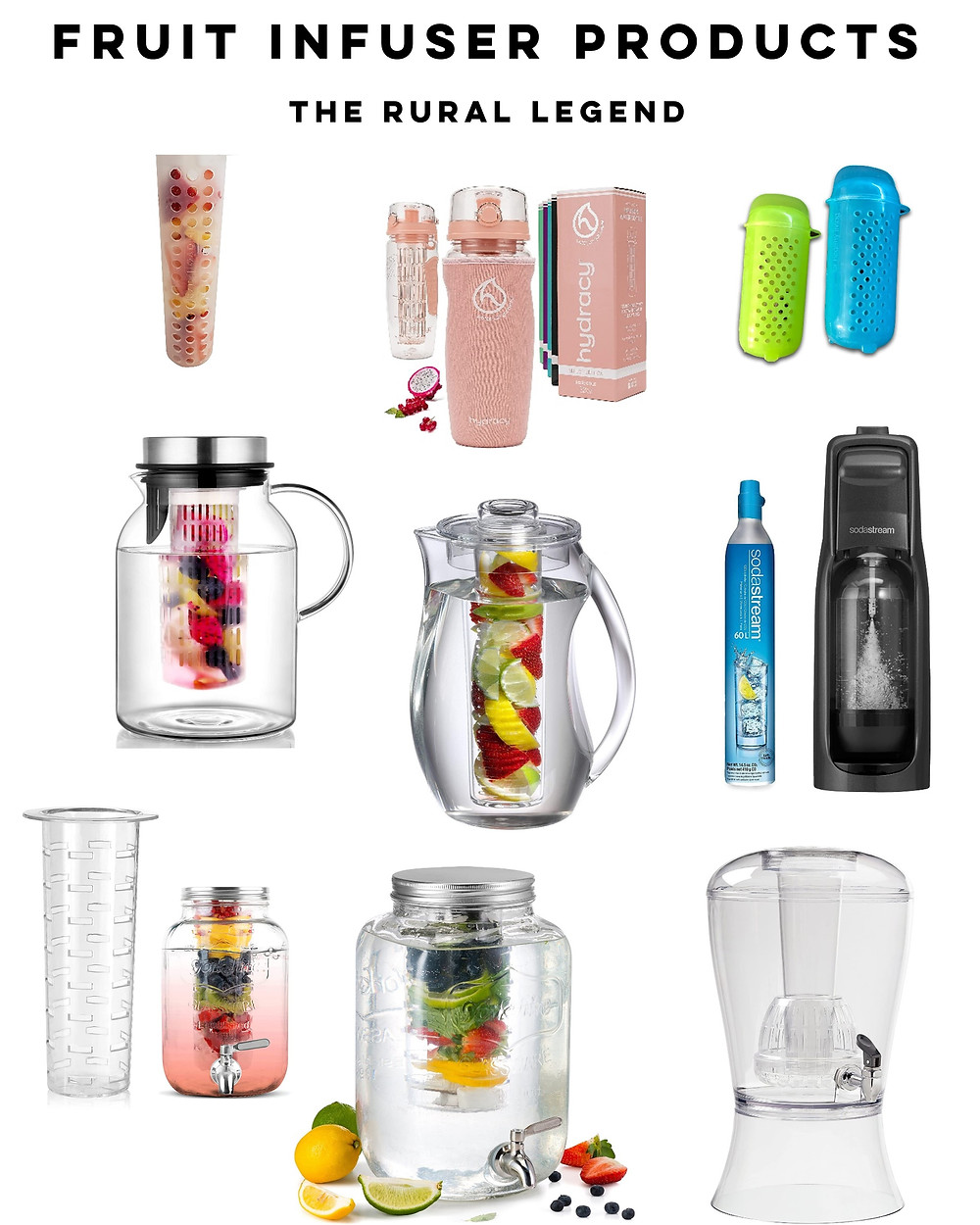Hydration tips, drink more water, hydration benefits, fruit infused water, healthy recipes, how to drink more water, fruit and herb pairings, food blog, the rural legend, healthy tips, healthy living tips, healthy eating tips, soda substitutions, hydration ideas, infused water, flavored water, flavored water recipes, drink recipes, healthy drink recipes, infusion products