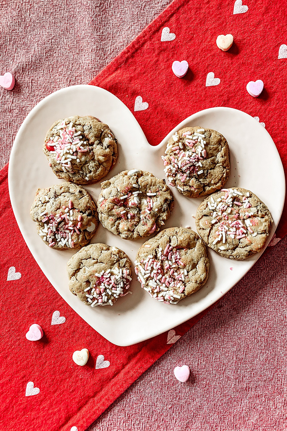 valentines day, valentine treats, valentine cookies, monster cookies, SML Outdoor Living Experts, feeding a crew, peanut butter cookies, oatmeal cookies, m&m cookies, bakery quality cookies, valentine sweets, holiday cookies, cookie ideas, cookie swap, favorite cookie, best cookies, easy cookie recipe, valentine recipe, cookie recipe, patio renovation