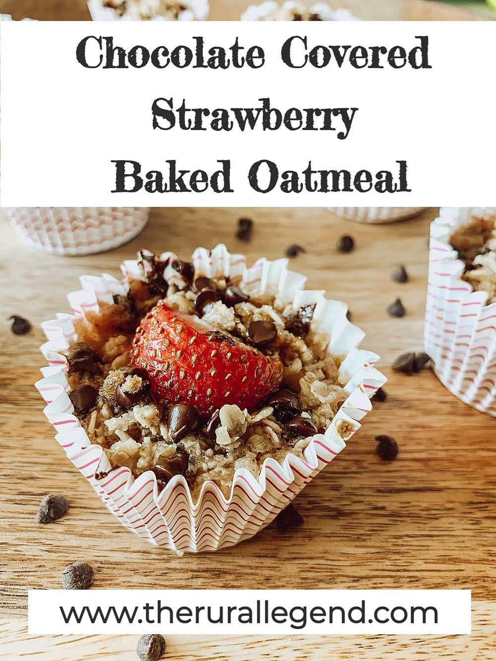 Baked oatmeal recipe, healthy breakfast recipe, chocolate covered strawberry recipe, valentine's day breakfast, valentine's day healthy recipes, valentine's day food, comfort food, comfort food breakfast, kid friendly recipes, family breakfast, family recipe, healthy chocolate recipe, kid's breakfast ideas, oatmeal recipe, valentine ideas, chocolate breakfast, healthy cupcake recipe, healthy muffin recipe, chocolate covered strawberry baked oatmeal, the rural legend