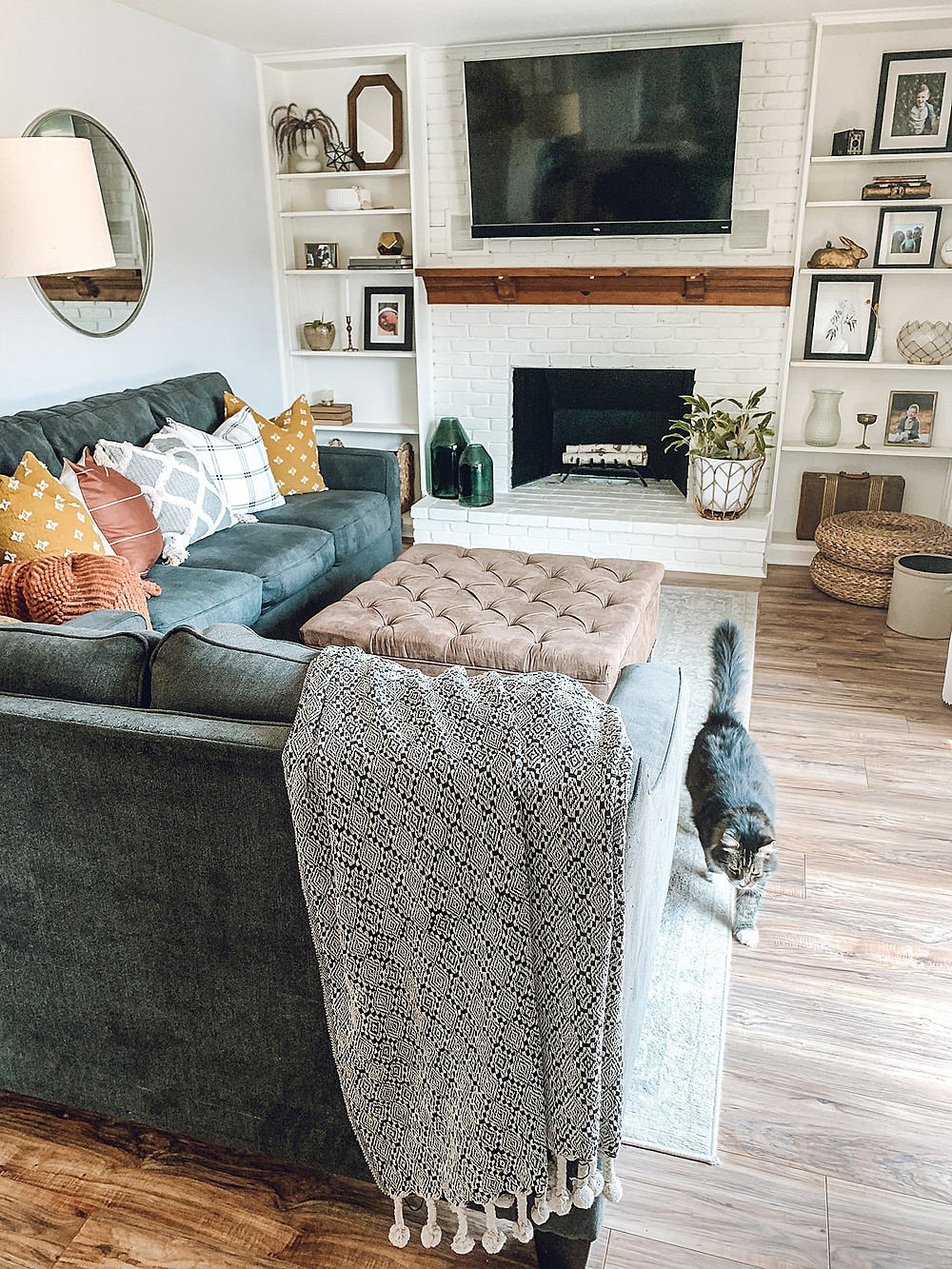 The rural legend, fall décor, family room, dining room, modern farmhouse, fall styling, budget friendly styling, amazon fall décor, target fall décor, pillow covers, transitional decor
