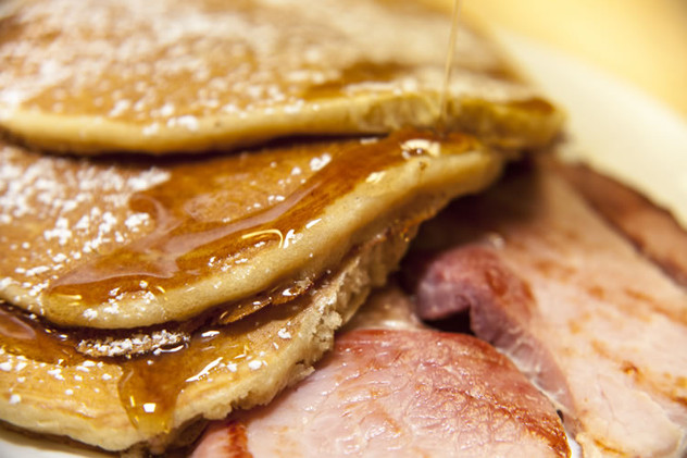 Pancakes w/ a side of Ham!