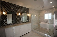 A full renovation of the master bathroom.