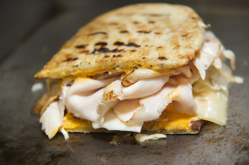 Our turkey melts are amazing hot off the grill!