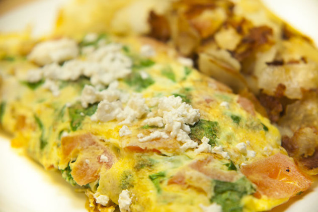How about a Vegetable Omelete w/ Hasbrowns?