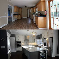 Before and after, a beautiful kitchen.