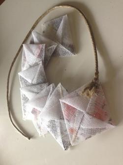 Sachets de 'thé' origami et tissu