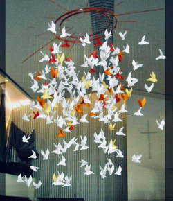 mobile origami hall d'entrée hotel