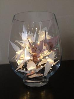 Light vase de Grues origami à piocher