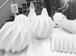 Belles Lampes origami
