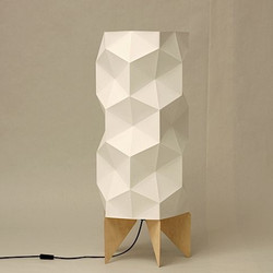 lampe origami sur pied cagette