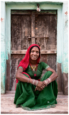 Lady from Mandhava, Rajasthan, India