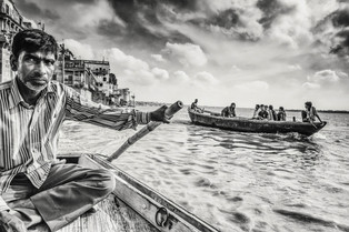 Boatman of Ganges, Varanasi, India